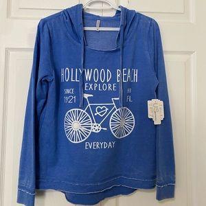 U.S Apparel Sweater Hoodie Cobalt Blue